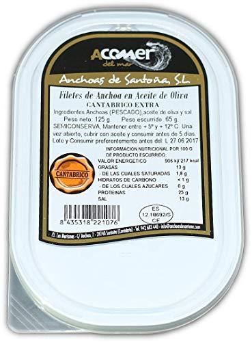 2 Latas Anchoas de Santoña del Cantábrico 110grs