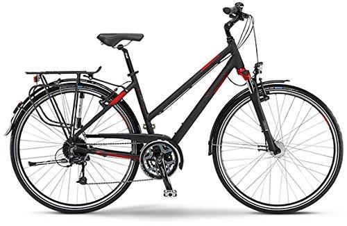 Louisiana Staiger 2015 Trekking Fahrrad Damen schwarz/rot matt (Rahmenhöhe 48)