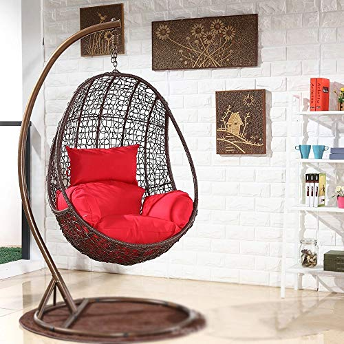 Swing Hanging Basket Seat Cushion,Waterproof Swing Chair Cushion,Hanging Rattan Swing Patio Garden Chair Weave Egg with Cushion In Or Outdoor-Excluding Chairs