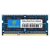Rasalas 8GB DDR3 PC3 10600S DDR3 1333 MHZ 1.5V CL9 DDR3 Ram 2RX8 PC3 204 Pin DDR3 SODIMM Laptop Notebook Computer Memory Ram Module Chips