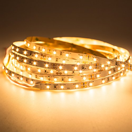 Mextronic 12V/24W IP20 LED Streifen/LED Strip: 2700K - 5m dimmbar 3528 (warmweiß)