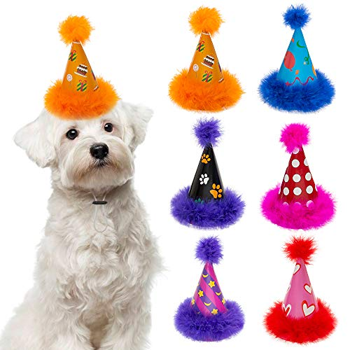 SCENEREAL Dog Party Hat