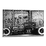 Hot Rod Poster, dekoratives Gemälde, Leinwand, Wandkunst,