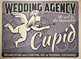 Mingxin Planificador de boda para boda, placa de metal para la calle, garaje, casa, cafetería, bar, hombre, cavewall decoración de granja artesanías 8 x 12 pulgadas