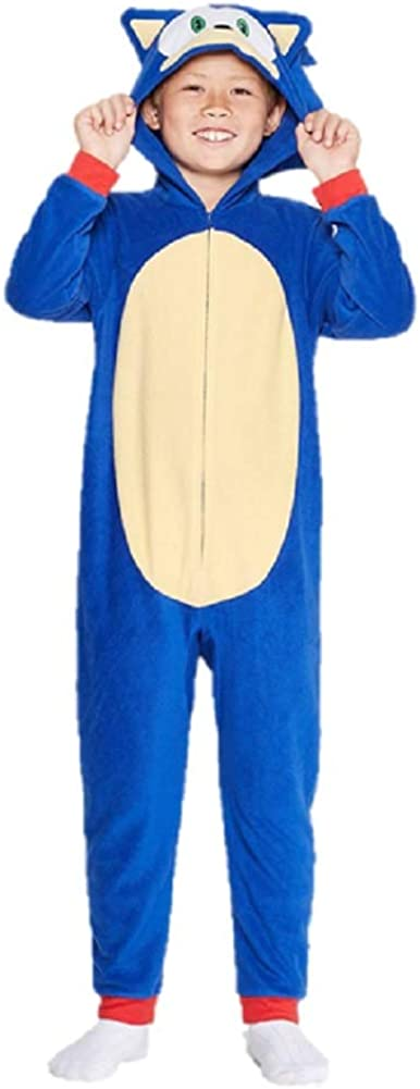 Boys' Sonic The Hedgehog Union Suit Pajamas Sleepwear