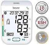 Beurer BM 77 Tensiomètre au bras connecté Bluetooth, avec indicateur de repos breveté, convient également aux femmes enceintes