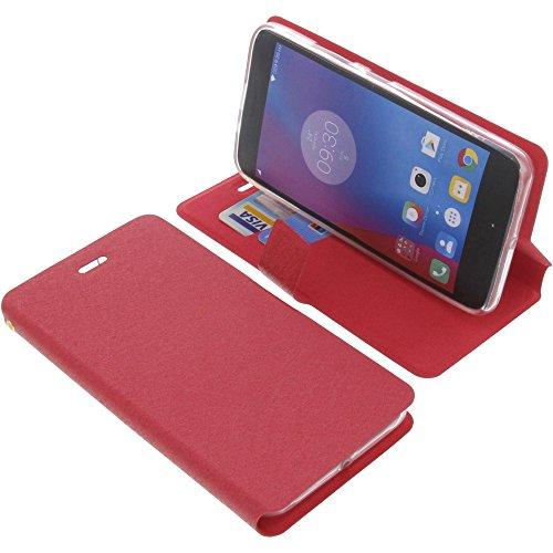 foto-kontor Tasche für Lenovo K6 Book Style rot Schutz Hülle Buch