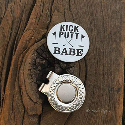Kick Putt Babe Golf Ball Marker- Gift Boyfriend Gift Golfer For Husband Fiance Present For Significant Other Golfing Babe Just Because Gift