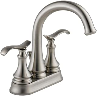 Delta 25730LF-SP Kinley 4 in. Centerset Double Handle Bathroom Faucet