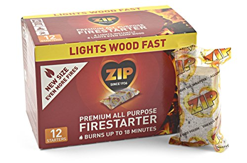 Great Deal! Zip Premium All Purpose Wrapped Fire Starter (Pack of 12)