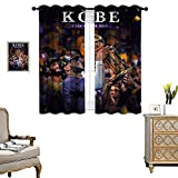 Living Room Blackout Curtains Bedroom Insulation Curtain Le-Bron-Ja-mes-led-The-Lo-s-Angele-s-Laker-s-to-Win-The-Championship Room Darkening Noise Reducing Set of 2 Panels W72 x L62