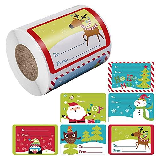 Etiquetas Adhesivas Navidad 500 Marca Hileyu