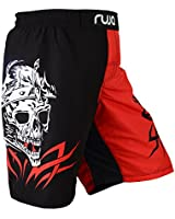 Ruja Men's Pro Graphic MMA and Training Shorts (L) Red/Black