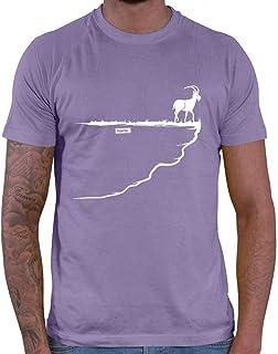 HARIZ Camiseta para hombre con diseño de capricornio roca
