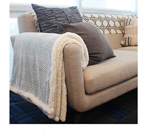 Simple Being Premium Sherpa Plush Fleece Throw Blanket