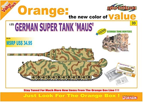 サイバーホビー 1/35 WW.II ドイツ軍 超重戦車 マウスw/ドイツ軍 戦車猟兵 プラモデル