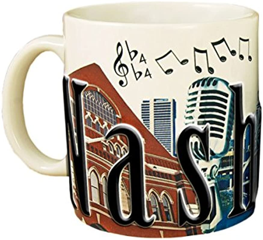 Americaware SMNVL01 Nashville 18 Oz Full Color Relief Mug