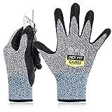 DEX FIT Level 5 Cut Resistant Gloves Cru553, 3D Comfort Stretch Fit, Power Grip, Durable Foam...