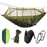 MYBOON Cama Colgante portátil de Alta Resistencia de la Hamaca del paracaídas Que acampa con la mosquitera