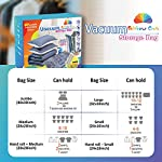 Rainbow Craft 18-PACK Vacuum Storage Bags for Clothes – Space Saver Bags Vacuum Storage Bags Jumbo for Comforters and…