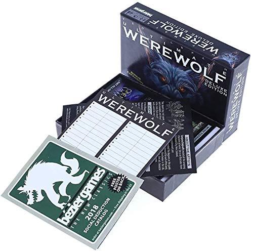 Juego De Cartas De Waswolf Edition DE Lujo EDICIÓN EXPANSIÓN VERSIÓN Completa INGLÉS - Juegos DE Tarjeta Juegos DIVERSIONES del Juego DE Partido Adecuado para Juegos Multijugador