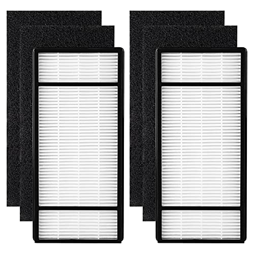 2-Pack Filter H with 4-Pack Carbon Filter B Compatible with Honeywell HPA060, HPA050, HPA150, HPA160 Air Purifier, Part# HRF-H2, HRF-B2