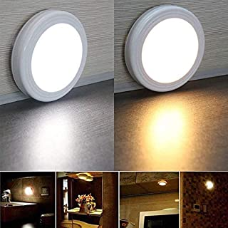 Bobopai Motion Sensor Light, 6 LED Cordless Battery-Powered LED Night Light with 3M Adhesive Pads,Wall Light for Entrance Hallway Basement Garage Bathroom Cabinet Closet (Silver)