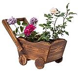 Maceta multifunción de madera para carretillas, maceta de madera ornamental, para jardín, patio, suculentas, plantas en maceta