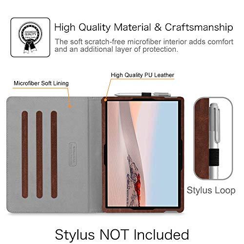 Fintie Hülle für Surface Go 2 2020 / Surface go 2018 10 Zoll Tablet-PC - Multi-Winkel Betrachtung Kunstleder Schutzhülle Etui Cover Case mit Dokumentschlitze und Stylus-Halterung, Denim grau