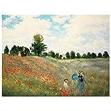 Legendarte - Cuadro Lienzo, Impresión Digital - Amapolas En Argenteuil - Claude Monet - Decoración P...