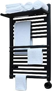Electric Towel Warmer, Bathroom Wall-Mounted Heated Towel Drying Rack, with Shelf, Timer/Digital Temperature Display, Bath Towel Heater, Plug in