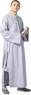 ZooBoo Summer Buddhist Shaolin Monk Robe Cotton Long Robes Gown Kung Fu Uniforms Martial Arts Clothing