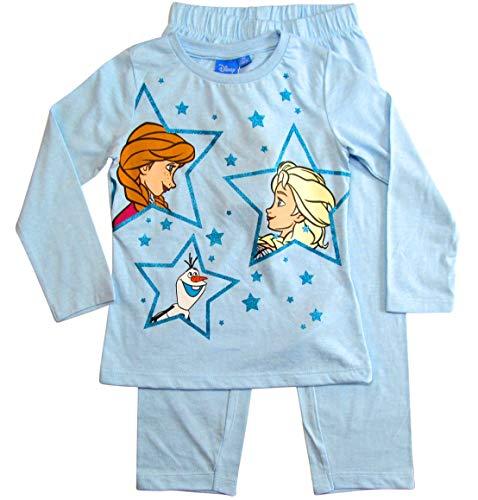 Frozen - Die Eiskönigin Mädchen Schlafanzug ELSA Pyjama (Blau; Blue, 104-110)