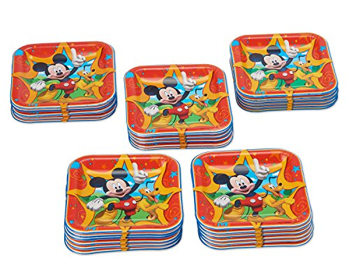 American Greetings Mickey Mouse Paper Dessert Plates, 40 Count