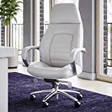 #9. Zuri Furniture Gates Genuine Leather Chair