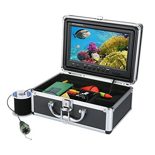 GRXXX Unterwasser-Fischfinder HD Unterwasserkamera 9-Zoll-TFT-Farbanzeige CCD- und HD-View-DVR-Funktion 1000 TVL-Kamera-Kit (15/30 / 50m),50M