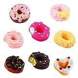 Uteruik Panadería Tienda Cocina Comida Torta Donuts Magdalena para 1/12 casa de muñecas en miniatura, 8 piezas, enviar al azar