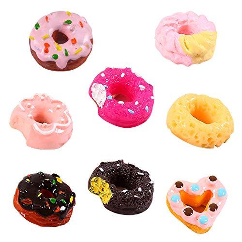 Uteruik Bakery Shop Küchen-Essen Kuchen Donuts Cupcake für 1/12 Miniatur Puppenhaus, 8 Stück