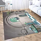 Neutral Area Rug,Shorping Modern Area Rug 2X3 Area Rugs for Girls Surreal Room in Wonderland with Cheshire Cat and Table Mixed Indoor Outdoor Rug Rugs for Living Room Big Soft Area Rug