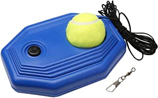 Tennis Rebound Trainer for Sport Exercise - Single Player Tennis Training Equipment with Balls & Elastic Ropes - Portable Tennis Aid Baseboard for Beginners/Kids/Adults' Self-Study Practice