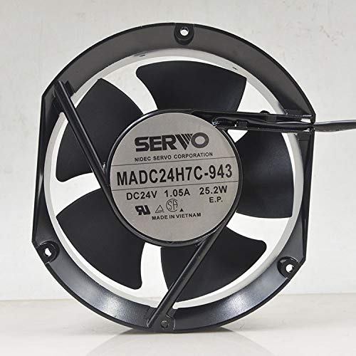 MADC24H7C-943 SERVO Deluxe 24V 172mm Fan - Inverter 1.05A Max 55% OFF 2-Wire 25.2W