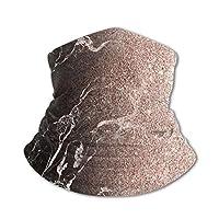 ローズゴールドマーブル アイスシルク 首カバー ネックウォーマー 暖かいスカーフ 多機能 顔保護 子供たち 防寒 呼吸しやすい ブレイサー