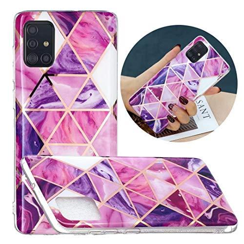 Funda para Samsung Galaxy A32 4G Crystal Marble patrón transparente Anti-Shock Soft TPU Bumper Funda Carcasa Ultra Delgada Back Cover para Samsung Galaxy A32 4G