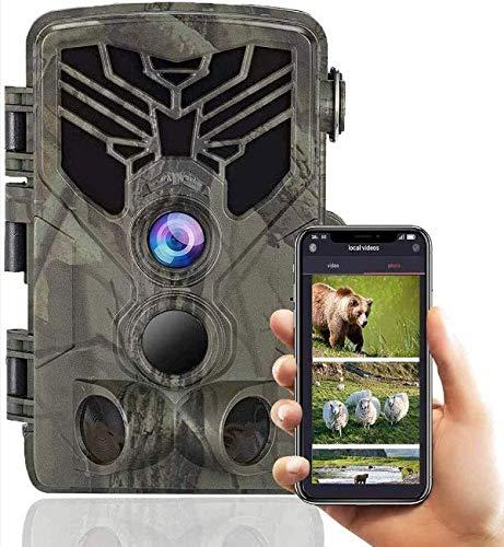 UYIDE Bluetooth Nachtsichtjagd Wildtierkamera 120 ° wasserdichte Weitwinkelüberwachungskamera Mit 2,4-Zoll-LCD-Display