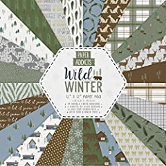 Brighten up your papercrafts with the Paper Addicts Wild Winter Paper Pad! The perfect addition to any Christmas project, this pad includes 24 colourful designs to help you add a vibrant, decorative touch to your makes These sheets will be ideal for ...