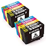 feier - 603XL Recambio cartuchos de tinta Epson 603 603 XL compatibles con impresoras Epson Expression Home XP-2100 XP-3100 XP-4100 XP-2105 XP-3105 XP-4105 Workforce WF-2810 WF-2830 WF-2835 y WF-2850