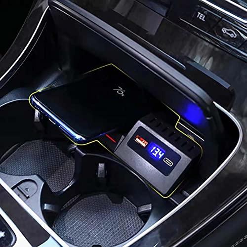 15w Car qi cargador de teléfono de carga inalámbrica funda de carga para Mercedes Benz W205 AMG C43 C63 CLG 43 GLC 63 X253 GLC C300 C200