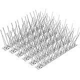 Kohree [2020最新型] 鳥よけ ここダメシート ステンレス製 33cm×30枚 カラス避けマット ベランダ・屋上・窓枠用 害獣対策グッズ (全長9.9m)