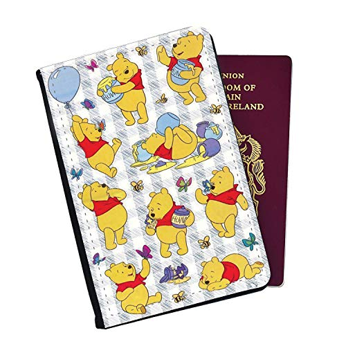 The Life of Winnie The Pooh Passport Cover Wallet Style with Card Insert Pockets