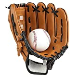 Lazy Puppy Sports & Outdoors Batting Gloves Pitcher Baseball Gloves with a Ball Softball Gloves for Children Adult (Adult(12.5))